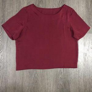 Zara maroon top